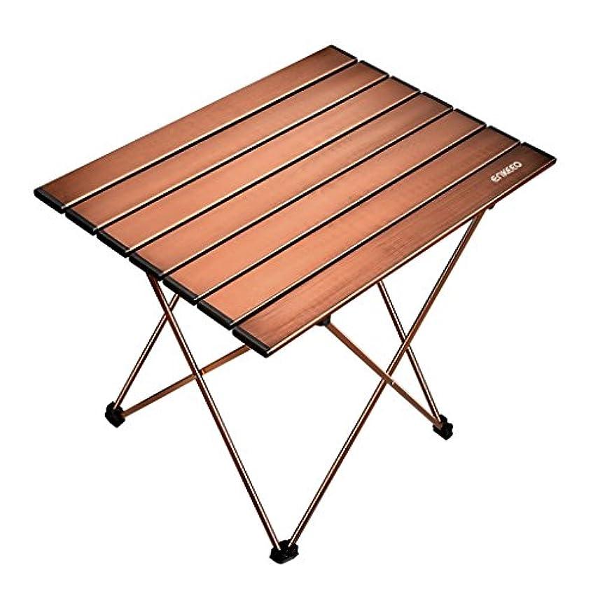 孤独な恥ずかしさ反抗ENKEEO 折り畳み式キャンプテーブル ポータブルアルミデスク キャリーバッグ付き ピクニック BBQ 釣り ハイキング 旅行用