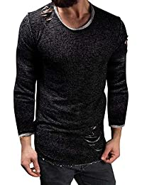 トップス カットソー Tシャツ ロンT チェック 長袖 インナー アウター かっこいい シンプル カジュアル DAISUKI ブラック ダークグレー ブルー ピンク パープル