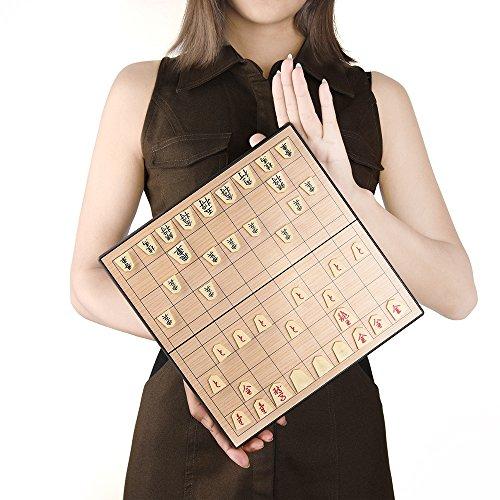KUUQA 駒ズレ防止 駒収納 折りたたみ式基盤 マグネット式 将棋セット パズルゲーム ボードゲーム トラベルゲームに最適 脳トレ知育玩具