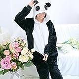 大人の動物パジャマ QIUJI 着ぐるみ コスチューム 男女兼用 フリーサイズ フリース パンダ (XL, Panda1)
