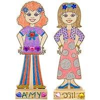 Bulk Buy :メリッサ&ダグ木製ファッションDolls ( 2 - Pack )