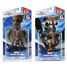 Disney INFINITY Marvel Super Heroes (2.0 Edition) - Groot and Rocket Raccoon Figures from Guardians of the Galaxy Bundle by Disney Infinity