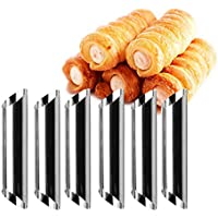 12PCS Screw Croissant Mold for Cake Bread Stainless Steel DIY Horn Baking Moulds Tubes