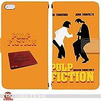 パルプ・フィクション PULP FICTION 手帳型 Huawei Honor8 FRD-L02 (G007003_03) 専用 映画 ユマ・サーマン pop art センス 個性的 スマホケース