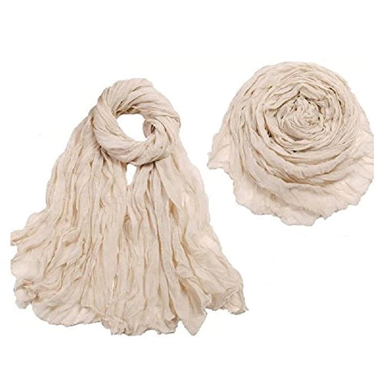 リゾート切り下げ統計的女性のスタイリッシュなソリッドカラークリンルコットンヴォイルシルクスカーフカラーラップショール秋の冬の長いスカーフ