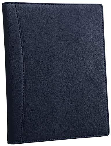 フロックス ノートカバー 手帳カバー メモ帳カバー メモパッドカバー B5 本革 革 2冊収納可 ペンホルダー付 (ネイビー)