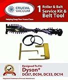 Dyson dc04、dc07、dc14、dc33ローラー&ベルト変更キットwithベルトサービスツールDyson dc07dc14直立、掃除機、Compare toダイソンローラーパーツ# 904174–01&ベルトパーツ# 05361–01–02、02514–01–01、ベルトツールパーツ# 10–10000–08、設計& Engineered by Crucial真空