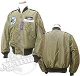 (バズリクソンズ)BUZZ RICKSON'S L-2 フライトジャケット 「16th FIGHTER INTERSEPTER SQ.」 BR13333 42 オリーブ