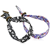 Disney Unisex The Nightmare Before Christmas 25 Years Adult Groovez Bracelet Duo in Black & White and Multi-Color