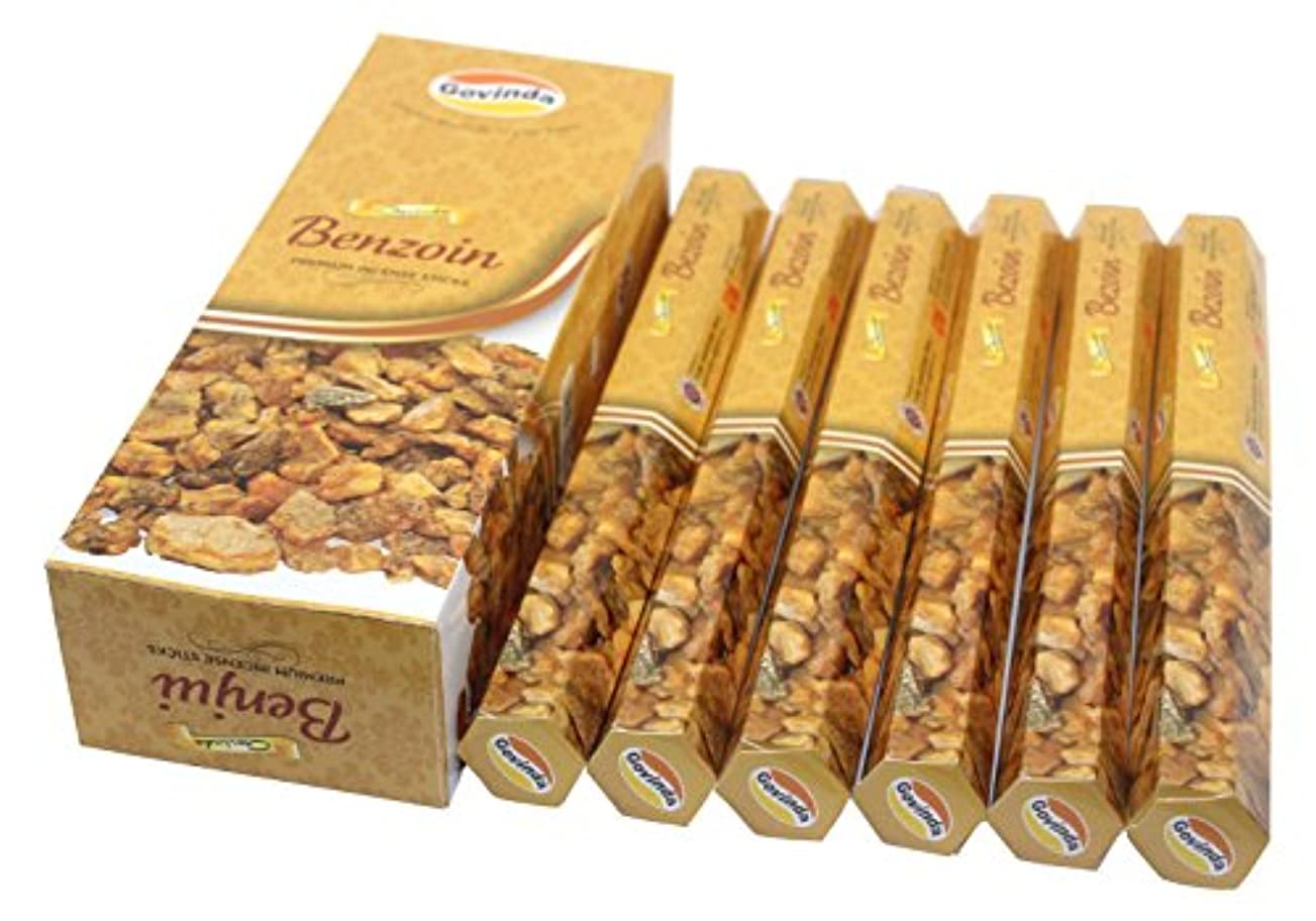 非常に怒っていますそれら隠Govinda Incense – Benzoin – 120 Incense Sticks、MasalaコーティングIncense