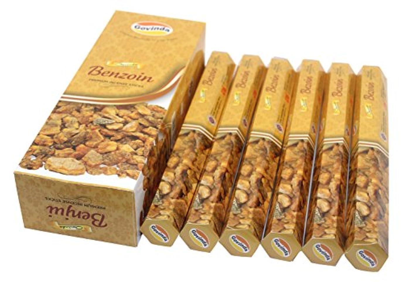 大臣安定コールGovinda Incense – Benzoin – 120 Incense Sticks、MasalaコーティングIncense