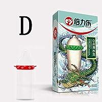 ACHICOO コンドーム セクシーな ラテックスドット 天然ゴム ペニス セックス エロ 男性 2ピース/バッグ D