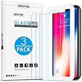 OMOTON [3-Pack] Screen Protector for iPhone 11 Pro/iPhone Xs/iPhone X, 5.8 inch - Tempered Glass/Guide Frame/Easy Installation