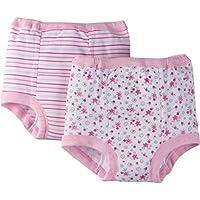 Gerber Little Girls' 4 Pack Training Pant