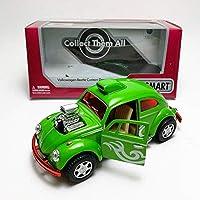 Kinsmart 1:32 Die-Cast Volkswagen Beetle Custom Dragracer Car Green Model with Box Collection Christmas New Gift