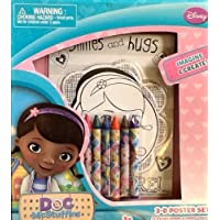 Disney Junior Doc McStuffins 3D Poster Coloring Activity Set with 6 Jumbo Crayons by Doc McStuffins Disney Junior