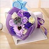 Flowers ホームインテリア花結婚式の花束手作りのシミュレーション花花嫁の花束(赤、紫と青)