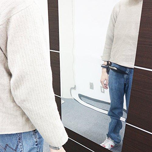 ユー・メイ・ドリーム 割れない 鏡 ミラー シール 安全 軽量 姿見 ダンス 玄関 リビング 扉
