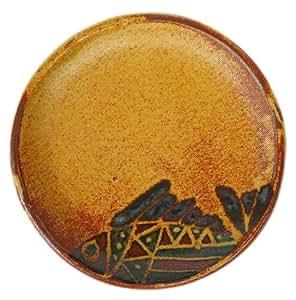 クラフ陶スタジオK's 小皿 茶 14cm タタラ
