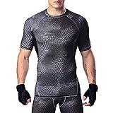 (オナー) HONOUR コンプレッションウェア メンズ 半袖 ラウンドネック スポーツシャツ UVカット 吸汗速乾 シャツ ストレッチ アンダーウェア