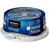 SONY 録音用CD-Rオーディオ 80分 ホワイトワイドプリンタブル 30枚スピンドル 30CRM80HPWP
