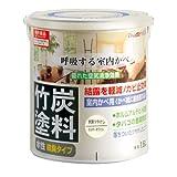 アトムハウスペイント 水性竹炭塗料 1.6L 炭調ミルキーホワイト