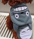 Beau Village(ボー・ヴィラージュ) ワンちゃん、猫ちゃん大変身!! トトロ風 コスプレ ペット用 変身 コスチューム 春夏 涼しい メッシュ 素材 犬服 猫服 (M)