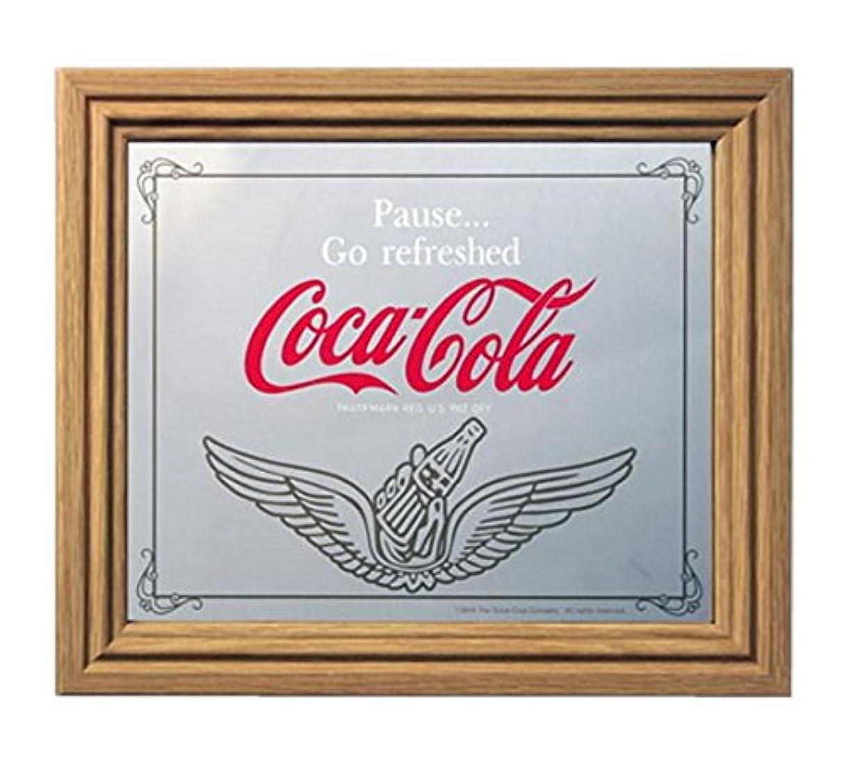 品葉を集めるパラナ川コカコーラ ミラー?鏡 ミラー 35×30×2.5cm