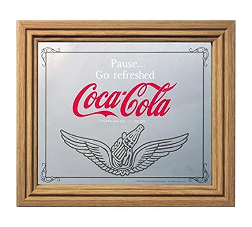 法律相反する残高コカコーラ ミラー?鏡 ミラー 35×30×2.5cm