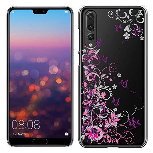 「Breeze-正規品」iPhone ・ スマホケース ポリカーボネイト [透明-Purple] HUAWEI P20 pro docomo HW-01K SIMフリー 兼用ファーウェイ p20 pro カバー 液晶保護フィルム付 全機種対応 [P20P]