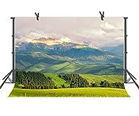 fuermor背景7x 5ft Prairie Mountain Range写真バックドロップスタジオ写真小道具部屋Mural xcfu110