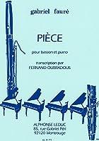 フォーレ : 小品 (ファゴット、ピアノ) ルデュック出版