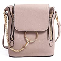BABORRY Women Crossbody Chain Backpack Purse Small Pu Designer Leather Shoulder Bag for women