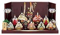 雛人形 真多呂 ひな人形 雛 木目込人形飾り 段飾り 十人飾り 真多呂作 古今人形 春香 h023-mt-1375