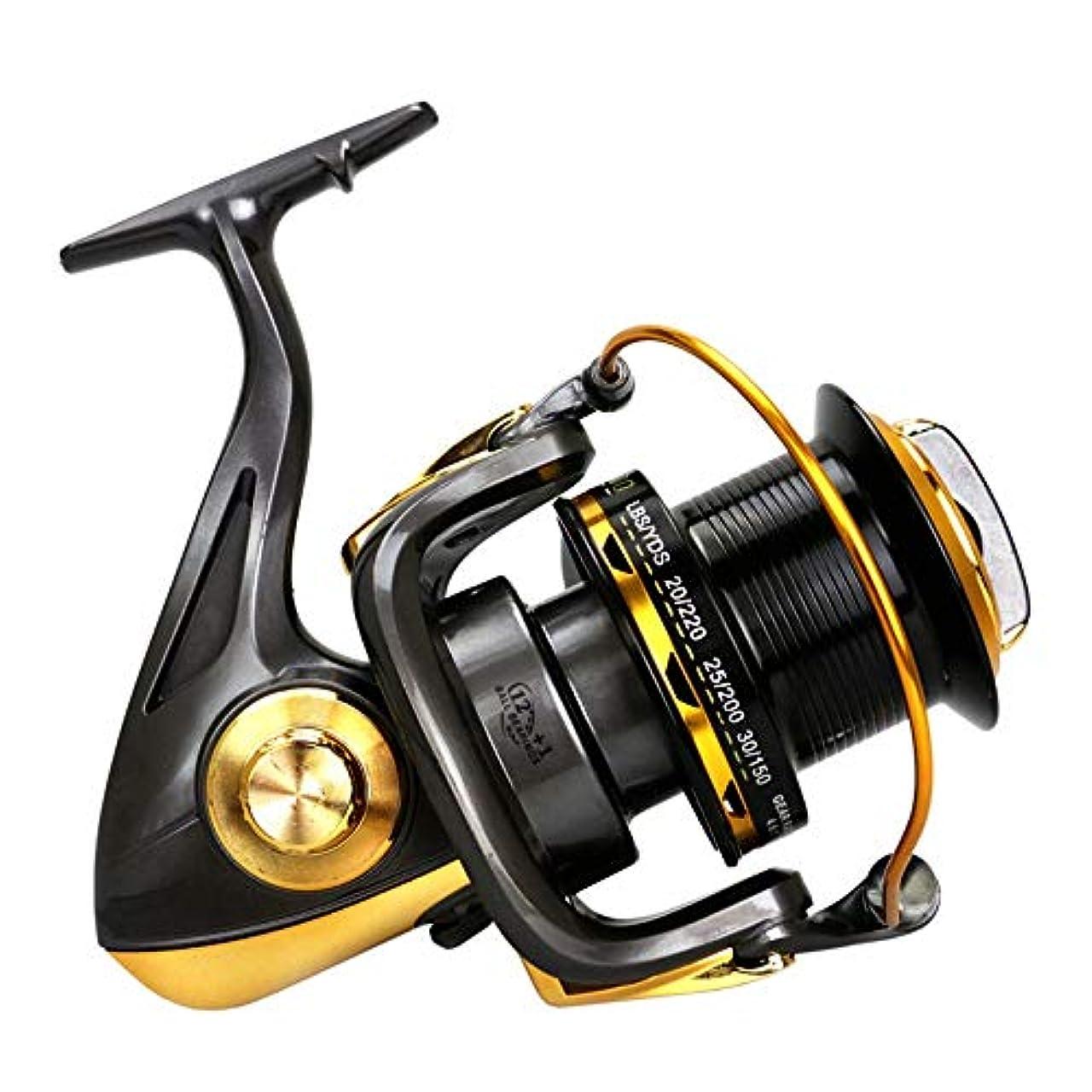 聖人気難しい針リール 釣りスピニングリール左右互換の光は、海水または淡水用リール釣りスムーズ スピニングリール (色 : Black, Size : 8000)
