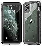 iPhone 11 Pro ケース 防水ケース 耐衝撃ケース 5.8インチ対応 360 全方向保護 米軍MIL規格取得 フェイスID認証 Qi充電対応 超軽量 塵 キズ·落下防止 高耐久ケース 風呂 雨 プール 海 (iPhone 11 Pro)