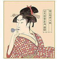 色紙絵 美人画 【ビードロを吹く娘】 喜多川歌麿 [K3-001]【代引き不可】