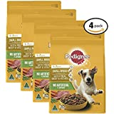 PEDIGREE Small Breed Beef Dry Dog Food 2.5kg Bag, 4 Pack