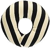 ESMERALDA(エスメラルダ) ドーナツ枕 日本製 ひとつひとつ手作り 赤ちゃん 頭の形が良くなる【まる型】 (ブラックストライプW)