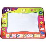 (ノタラス)Notalas 大きい カートン 水 絵画 マット ボード マジックペン 落書き 贈り物 80cm x 60cm 赤ちゃん 幼児 早期 教育 Drawing Board (モノクローム)
