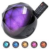 iHOVEN Bluetooth ワイヤレス スピーカー マルチカラー LEDライト ボール形 ライティング RGB多色変化 スピーカー クリスタル マジックボール ステージライト 舞台照明 TFカード対応 音楽再生 ブルートゥース オーディオレシーバー 無線スピーカー スマートフォン対応 リモコンコントロール高音質