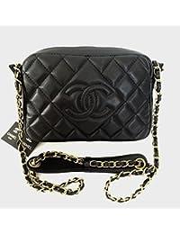 CHANEL COSME BOY CHANEL BLACK JEWEL Shoulder Bag シャネル CHANEL ショルダーバッグ CHANEL マトラッセ No.5チャームチェーンショルダーバック 25 ブラック 67086-00 [並行輸入品]