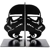 Star Wars Imperial Stormtrooper Bookends Black Mask Decorative Metal Bookend Stormtrooper Book Stopper The Force Bookshelf