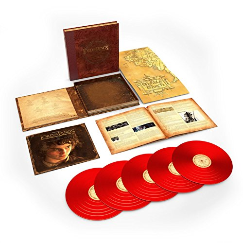THE LORD OF THE RINGS: THE FELLOWSHIP OF THE RING, THE COMPLETE RECORDINGS (SOUNDTRACK) [5LP BOX] (180 GRAM, RED COLORED VINYL) [12 inch Analog]