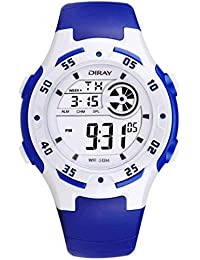 feoya子供の光電子デジタル腕時計防水アウトドアスポーツ ダークブルー
