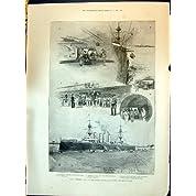 1898 隻の船のひどい巡洋艦のコルダイト爆薬の弾薬 Dupuy ウイルソン Lugard Chavannes Webb