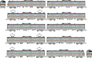 鉄道コレクション 鉄コレ 東京メトロ7000系 有楽町線 副都心線 7001編成 10両セット ジオラマ用品