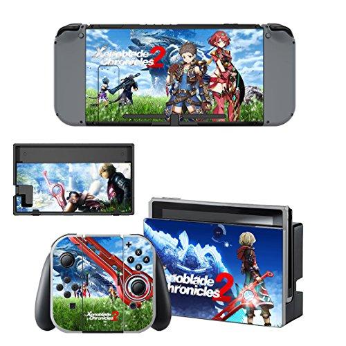 Nintendo Switch 任天堂スイッチ ゼノブレイド2 xenoblade スキンシール 保護カバー 本体用 + コントローラー用 オリジナルステッカー セット 2