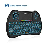 Mitid RGB Colorful Backlit Mini Keyboard with Touchpad 2.4G Wireless for Google/Android TV Box, Smart TV, HTPC, IPTV