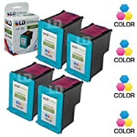 LD テつゥ Remanufactured Replacement Ink Cartridges for Hewlett Packard C9361WN (HP 93) Tri-Color (4 Pack) by LD Products